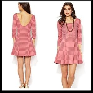 Free people pink nautical knot fit n flare dress